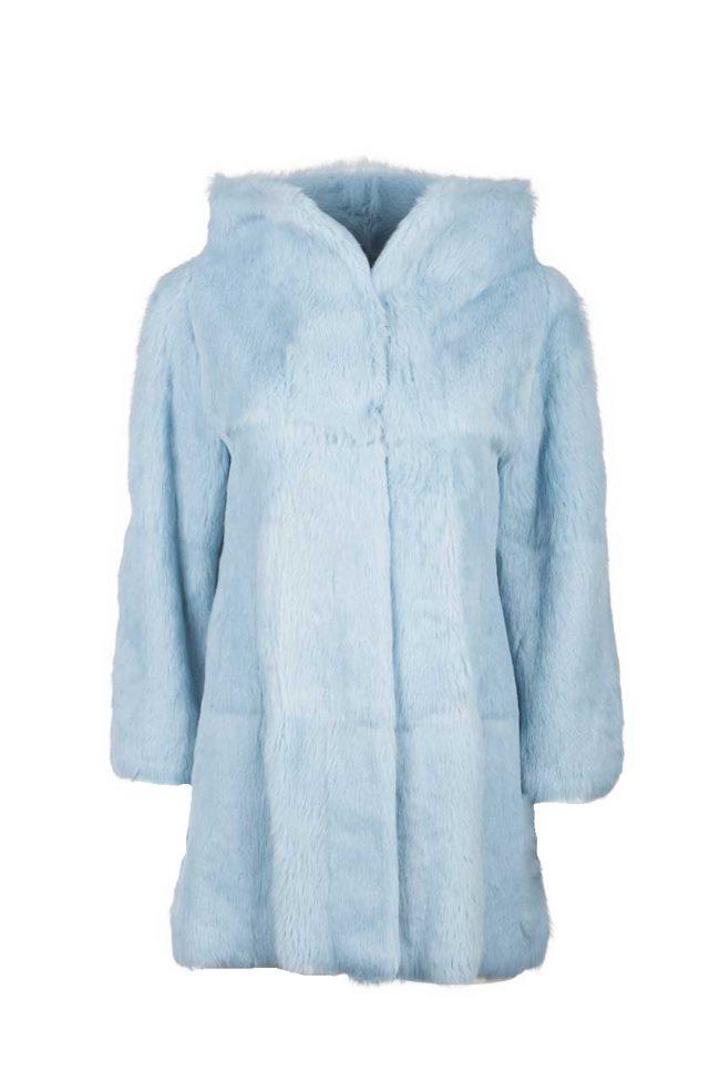 seleccione para auténtico clásico elegir oficial Abrigo conejo azul celeste