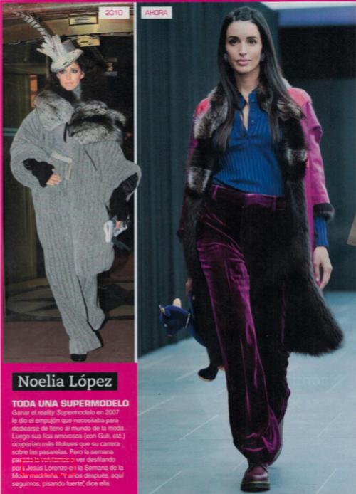 """Publicación revista Rumore. Noelia López: """"Toda una Súper Modelo"""" En el desfile de Jesús Lorenzo para Groenlandia de la MBFW Madrid"""